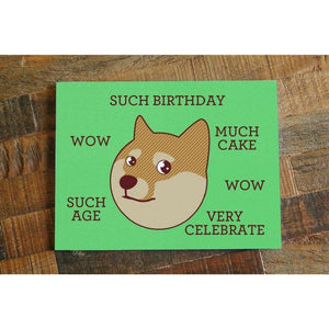 Such Birthday! – Funny Shibe Doge Birthday Card - Cute Dose