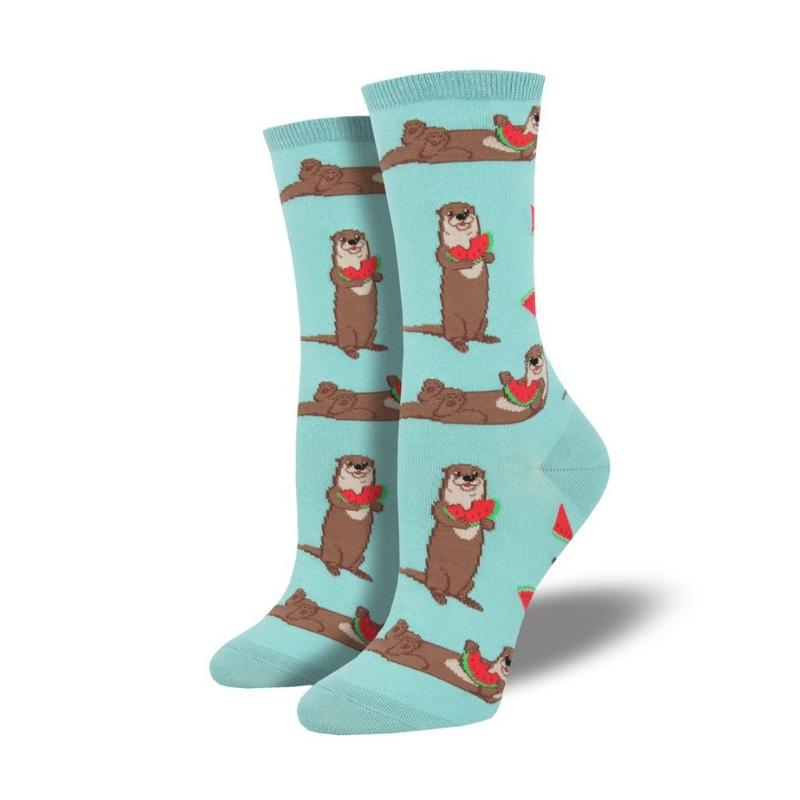 Sky Blue Ottermelon Socks - Cute Dose