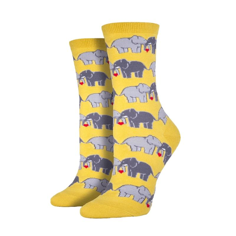 Buttercup Elephant Love Socks - Cute Dose