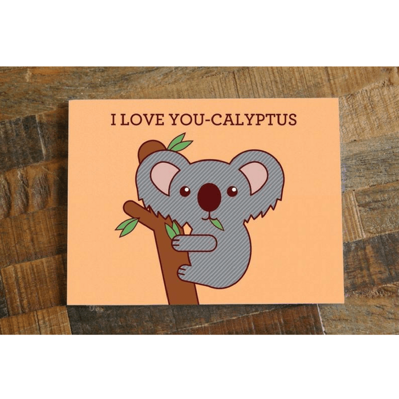 I Love You-calyptus – Koala Love Card - Cute Dose