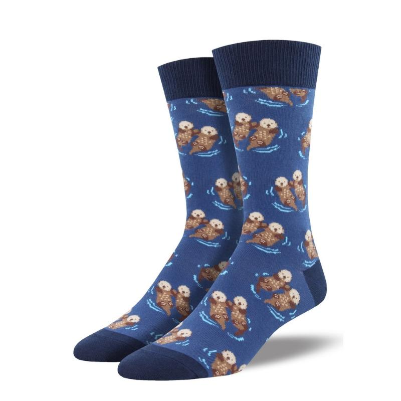 Men's Significant Otter Socks - Blue - Cute Dose