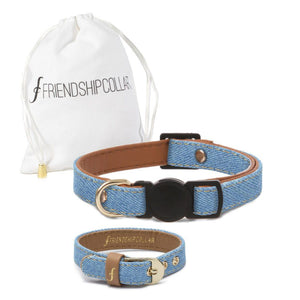 Light Wash Denim Cat Collar - Cute Dose