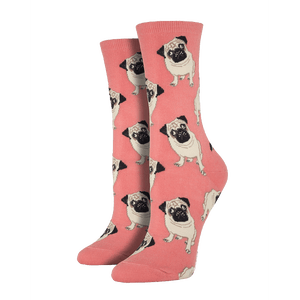 Peach Pug Socks - Cute Dose
