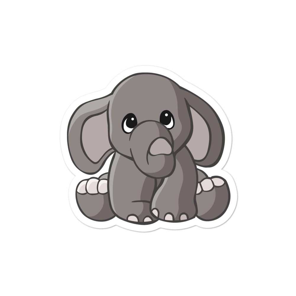 Elephant Die Cut Sticker - Cute Dose