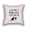Wino Cat Pillow