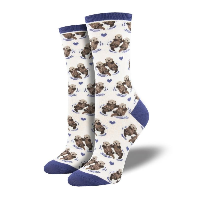White Significant Otter Socks - Cute Dose