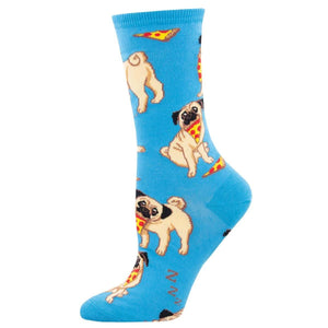 Pizza Pug Socks - Cute Dose