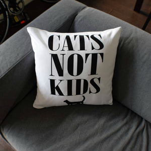 Cats Not Kids Pillow - Cute Dose