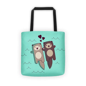 Cute Otters Tote Bag - Cute Dose