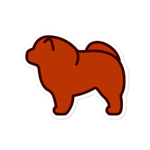 Chow Chow Bubble-free stickers - Cute Dose