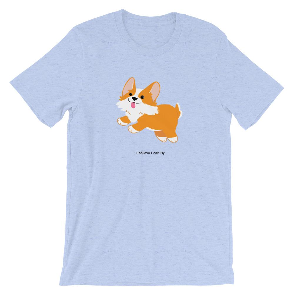 I Believe I Can Fly Corgi - Unisex T-Shirt - Cute Dose