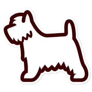 West Highland White Terrier Bubble-free stickers - Cute Dose
