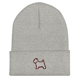 West Highland Terrier Cuffed Beanie - Cute Dose