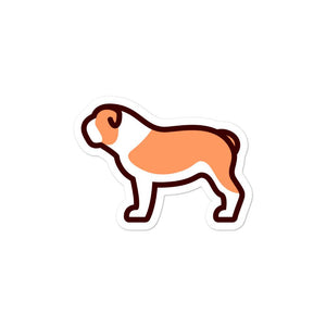 Bulldog Bubble-free stickers - Cute Dose