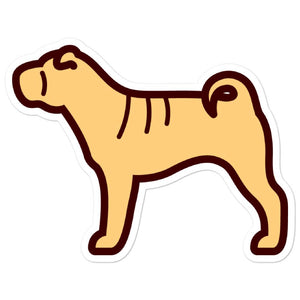 Shar Pei Bubble-free stickers - Cute Dose