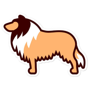 Rough Collie Bubble-free stickers - Cute Dose
