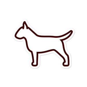 Bull Terrier Bubble-free stickers - Cute Dose
