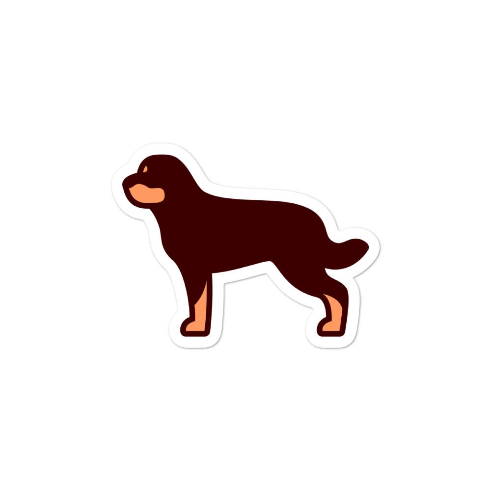 Rottweiler Bubble-free stickers - Cute Dose
