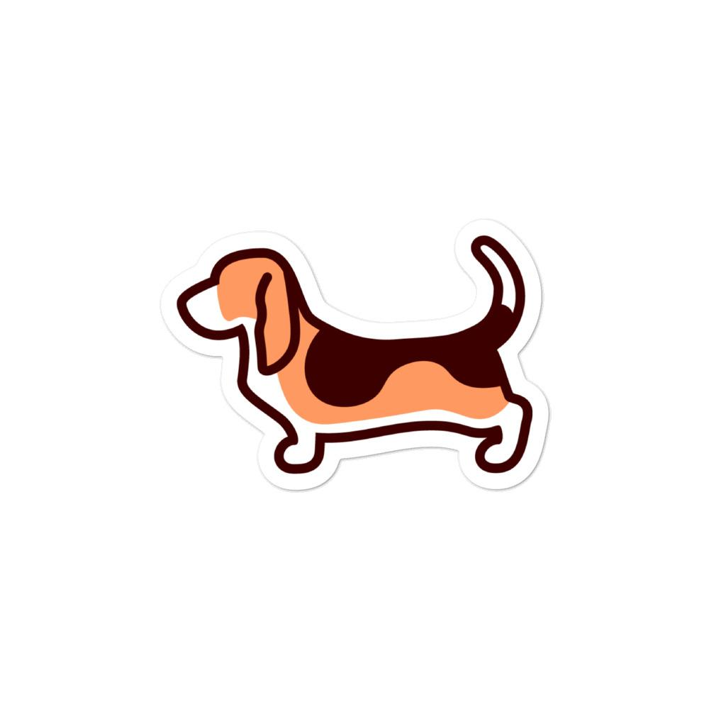 Basset Hound Bubble-free stickers - Cute Dose