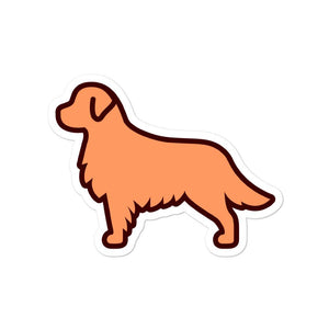 Golden Retriever Bubble-free stickers - Cute Dose