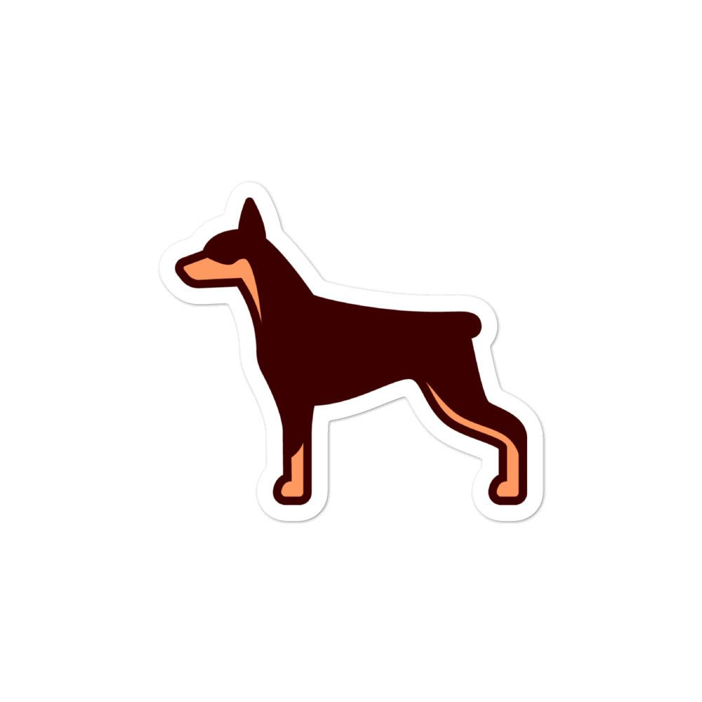 Doberman Bubble-free stickers - Cute Dose