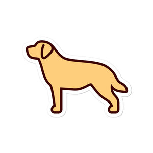 Labrador - Yellow Bubble-free stickers - Cute Dose