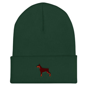 Doberman Cuffed Beanie - Cute Dose