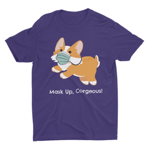 Mask Up Corgeous Unisex Jersey Short-Sleeve T-Shirt - Cute Dose