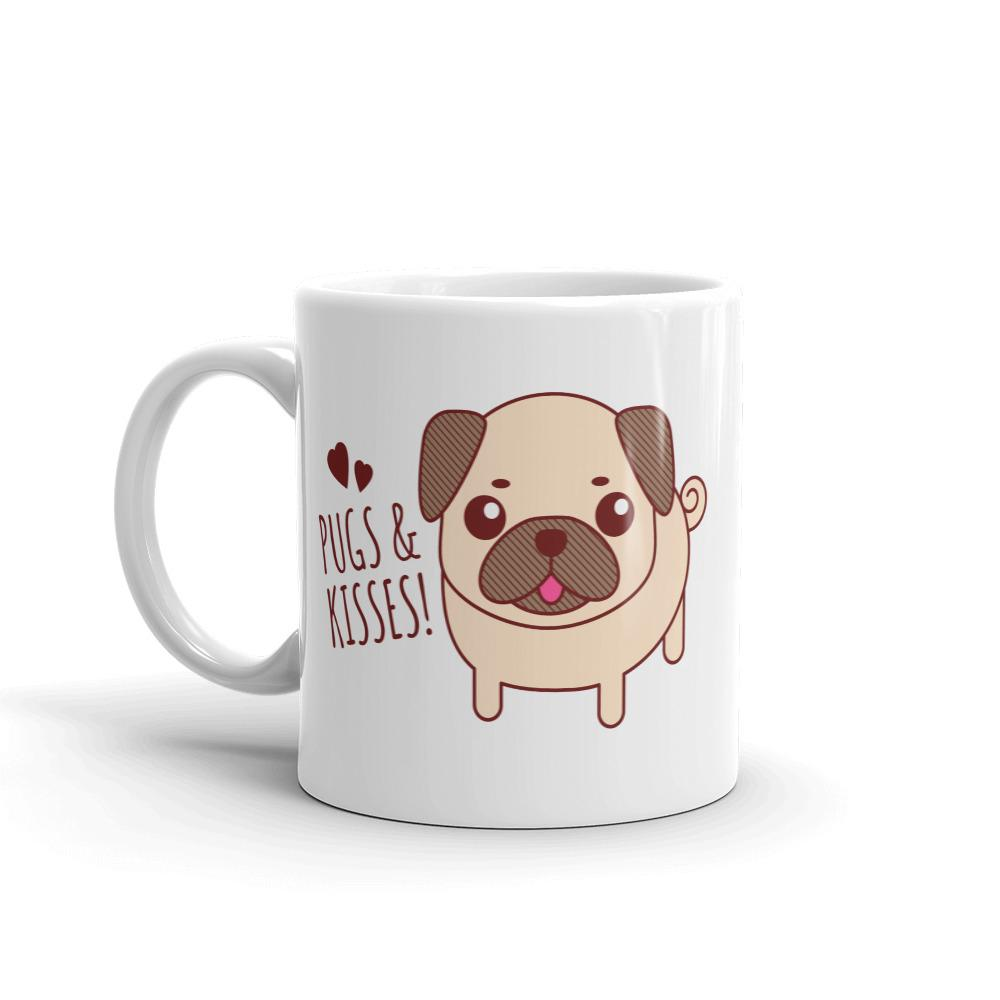 Pugs & Kisses Coffee Mug - Cute Dose