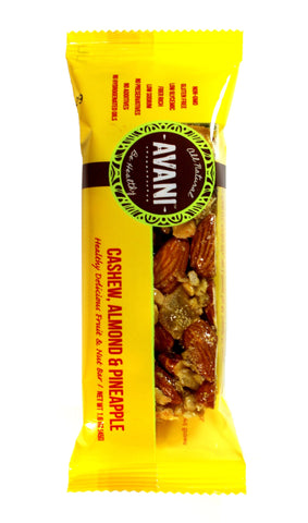 Cashew Almond Pineapple - Wholesale Master Pack 96 bars ( 8 boxes X 12, 1.6 oz bars)