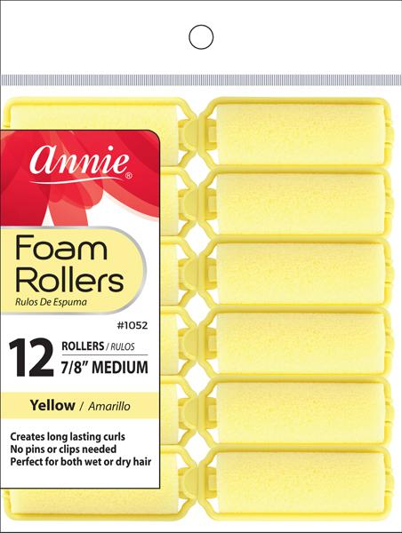 #1052 Annie Foam Rollers Medium 12Pc (6Pk)