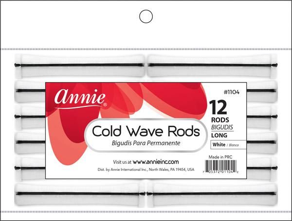 #1104 Annie Long White Cold Wave Rods (12Pk)