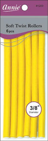 "#1200 Annie Soft Twist Rollers 7""Long 6Pc (6Pk)"