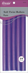"#1210 Annie Purple Soft Twist Rollers 10"" Long (6Pk)"