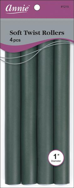"#1215 Annie Dark Green Soft Twist Rollers 10"" Long (6Pk)"