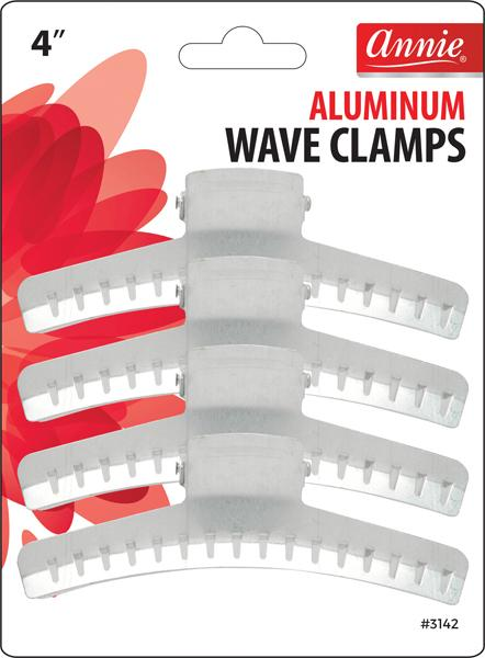 #3142 Annie Aluminum Wave Clamps 4Pc (12Pk)