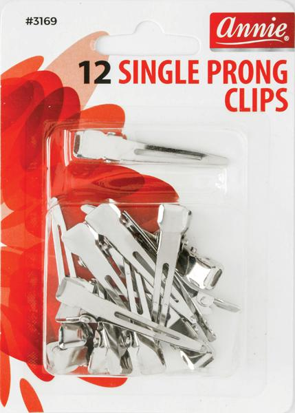 #3169 Annie Single Prong Clips 12Pc (12Pk)