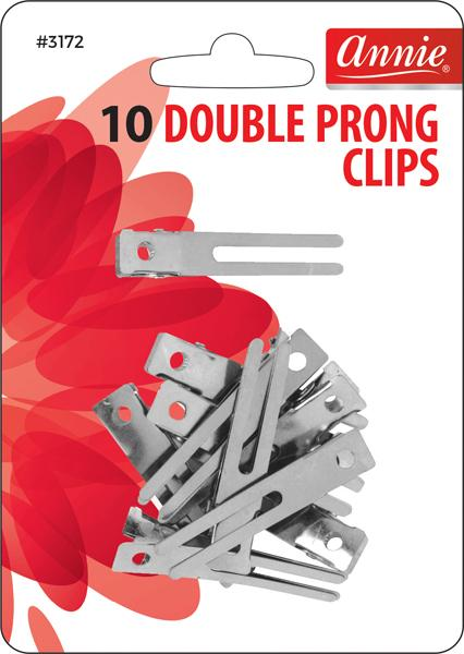 #3172 Annie Double Prong Clips 10Pc (12Pk)