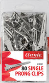 #3191/3081 Annie Single Prong Clips 80Pc (6Pk)