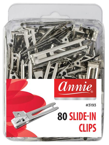 #3193/3083 Annie Slide-In Clips 80Pc (6Pk)