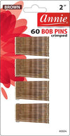 #3304 Annie Bob Pins Brown 60Pc (12Pk)