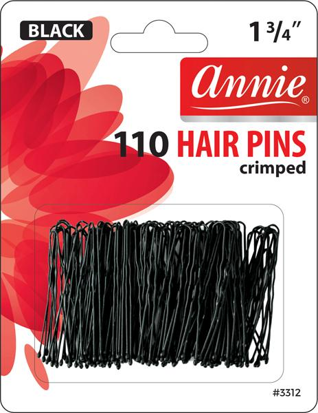 #3312 Annie Hair Pins Black 110Pc (12Pk)