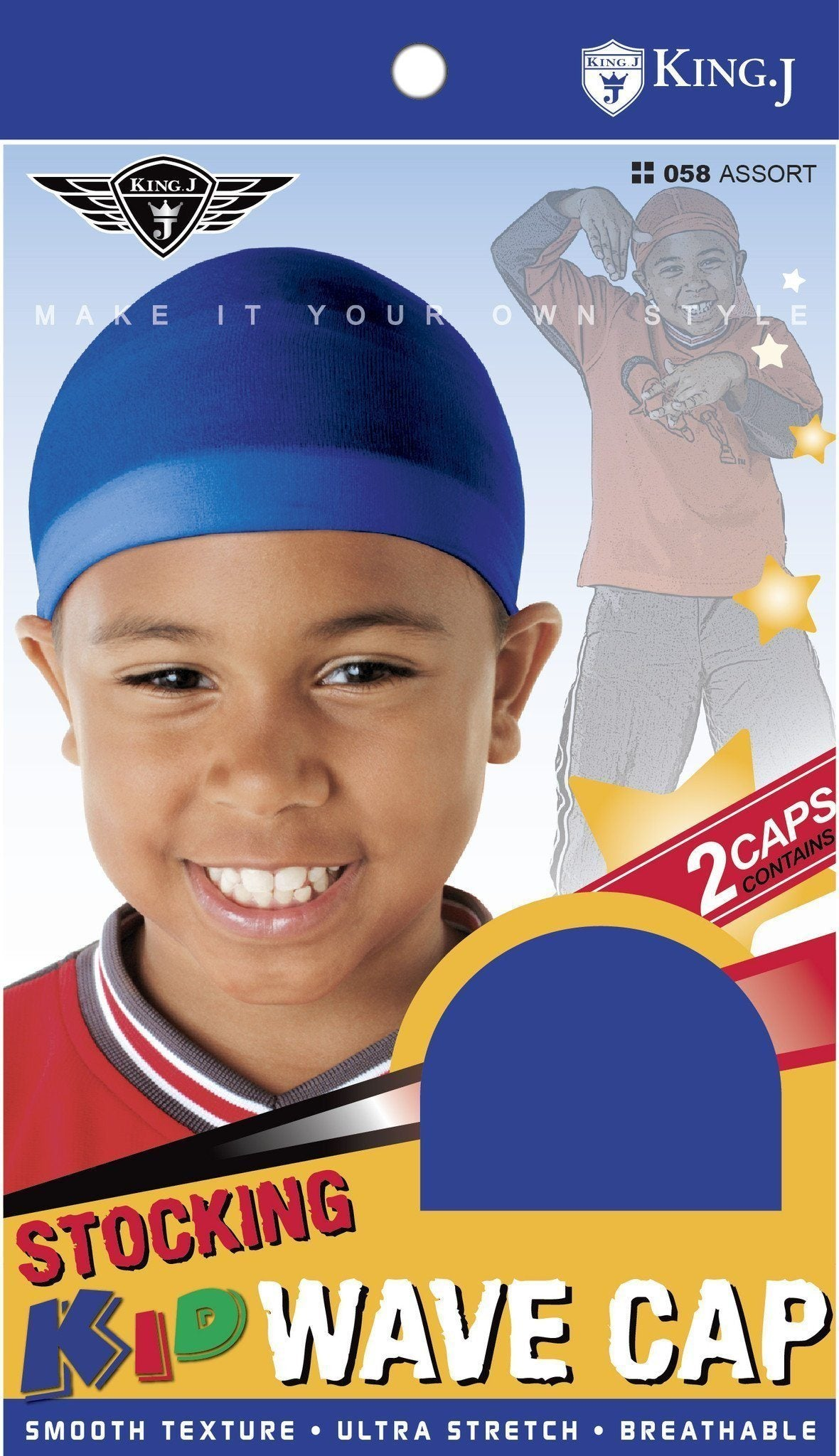 #058 Kid Stocking Wave Cap / Assort (Dz)