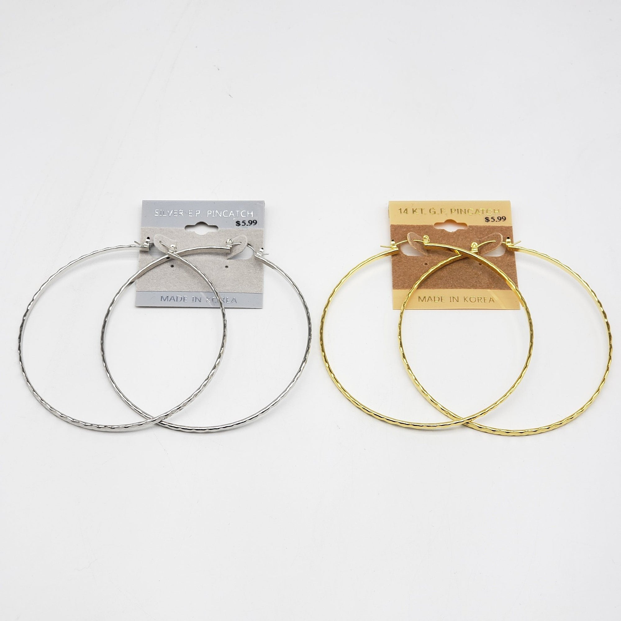 Gold/Silver Hoop Earrings #1080 (PC)