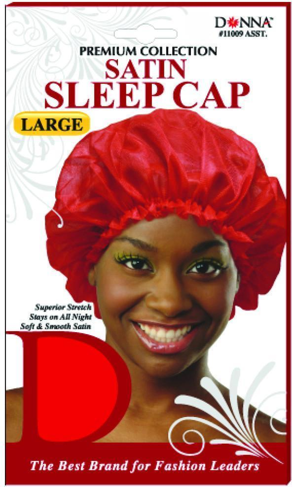 #11009 Large Satin Sleep Cap / Assort (Dz)