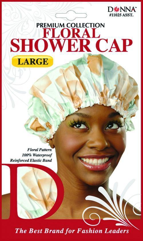 #11025 Large Floral Shower Cap / Assort (Dz)