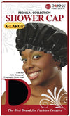 #11028 Xl Shower Cap / Black (Dz)