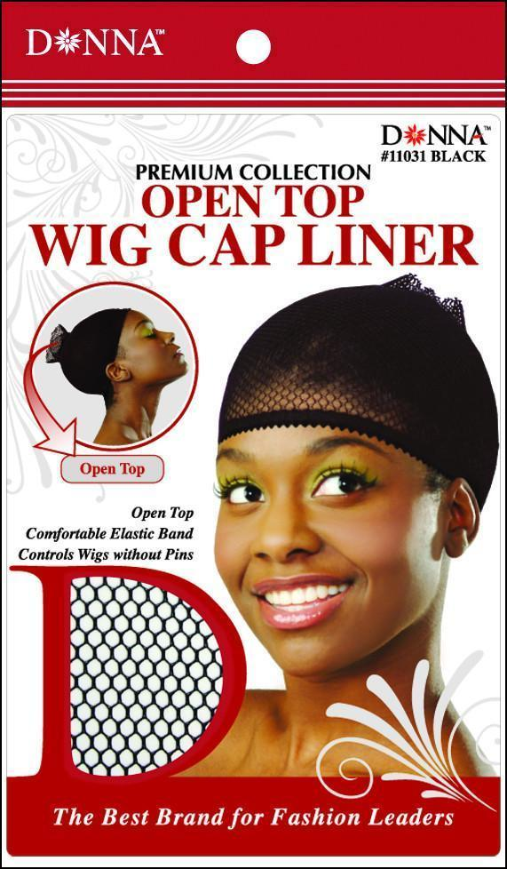#11031 Open Top Wig Cap Liner / Black (Dz)