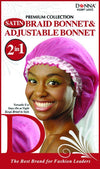 #11097 Satin Braid Bonnet & Adj Bonnet 2 In 1 / Assort (Dz)