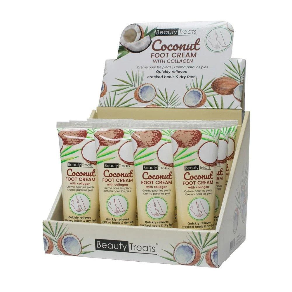 Beauty Treats Coconut Foot Cream with Collagen 3.5oz #126 (12PC)